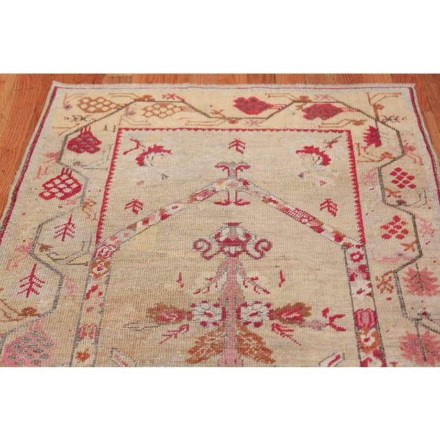 Antique Shabby Chic Tribal Turkish Ghiordes Rug - 3′5″ × 6′6″ For Sale In New York - Image 6 of 10