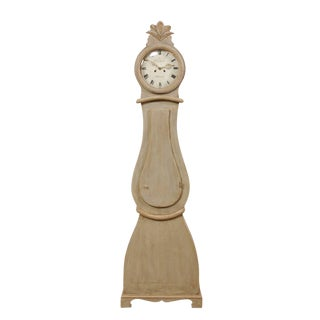 19th Century Swedish Painted Wood Floor Clock For Sale