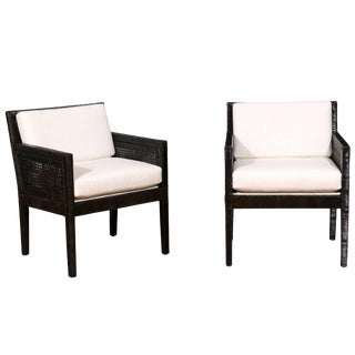 Exquisite Pair of Restored Loungers by Billy Baldwin for Bielecky Brothers For Sale