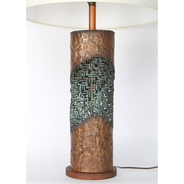 Raymor MARCELLO FANTONI TORCH-CUT TABLE LAMP For Sale - Image 4 of 8
