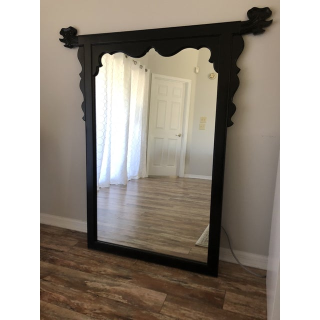 Century Furniture Lacquered Chinoiserie Style Mirror by Century Furniture For Sale - Image 4 of 5