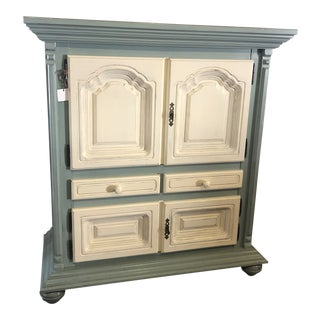 Modern Painted Liquor Cabinet For Sale