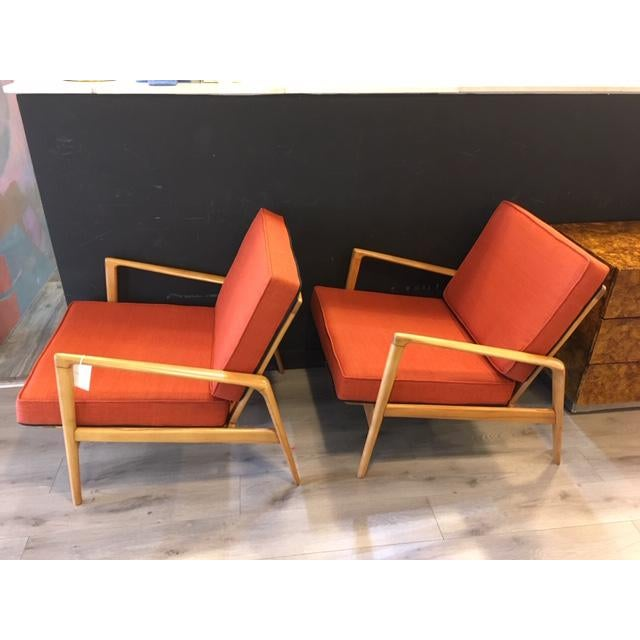 1960s Pair Mid Century Chairs For Sale - Image 5 of 8
