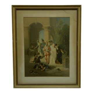 """""""Children Playing"""" Framed & Matted -Color Print For Sale"""
