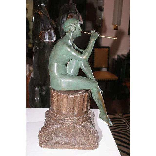 Art Deco Bronze Sculpture by Maurice Guiraud Riviere For Sale - Image 4 of 10