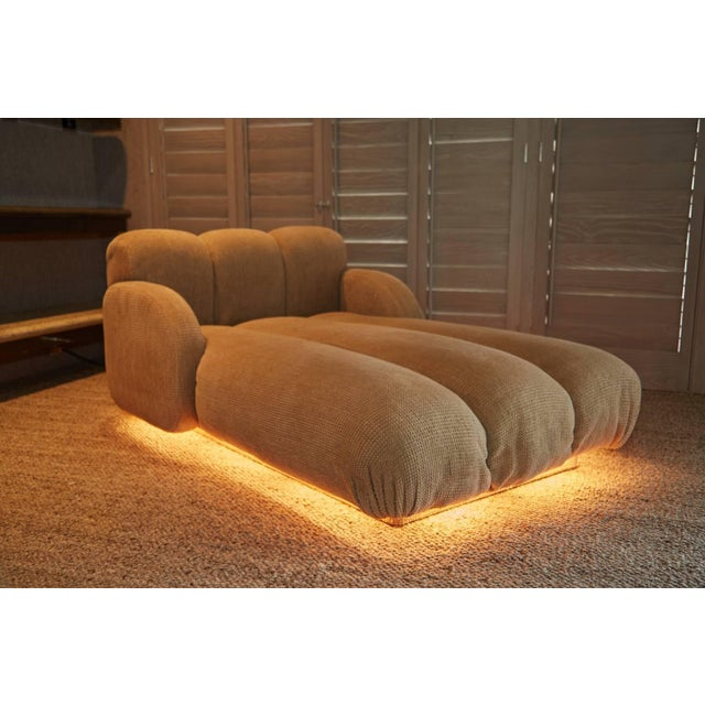 Pink Custom Illuminating Pink Velvet Chaise by Steve Chase From Chase Designed Home For Sale - Image 8 of 10