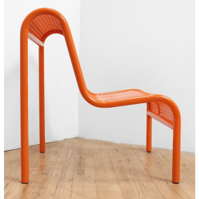 Post Modern 80s Tubular Steel Chair For Sale In San Francisco - Image 6 of 6