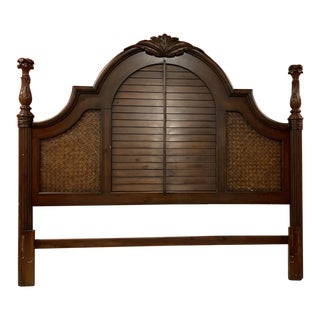 British Colonial Style King Headboard For Sale