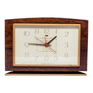Mahogany General Electric Desk Clock For Sale