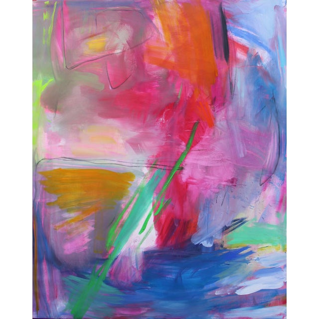 """Canvas """"Uluru"""" by Trixie Pitts Extra-Large Abstract Landscape Painting For Sale - Image 7 of 11"""