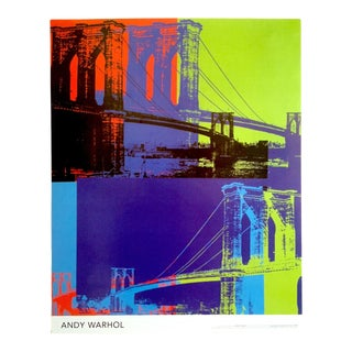 "Andy Warhol Foundation Vintage Pop Art Poster Print "" Brooklyn Bridge "" 1983 For Sale"