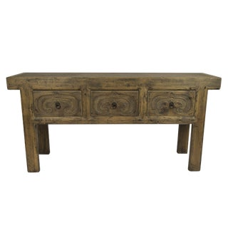 Rustic Altar Console Table For Sale