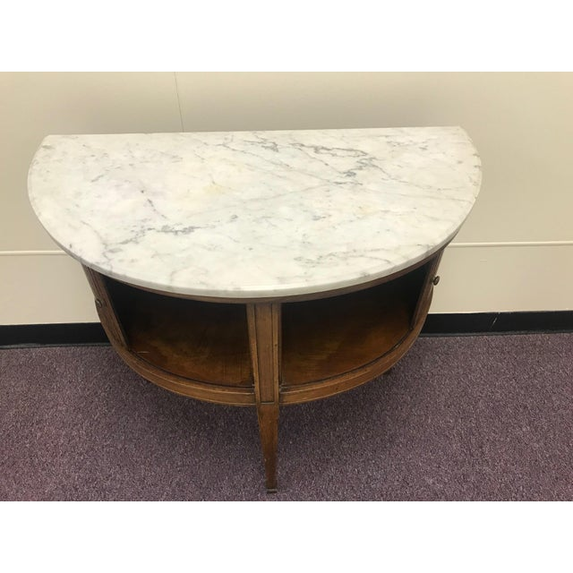 Early 20th Century 20th Century French Demi Table with Marble Top For Sale - Image 5 of 9