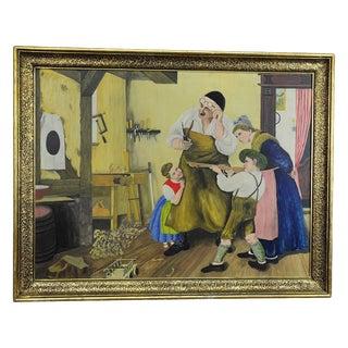 W. Melchinger - Bavarian Folksy Scene In Joinery For Sale