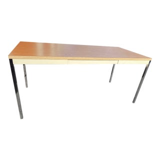 1970s Vintage Steelcase Metal Desk Table For Sale