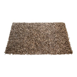 Jack Lenor Larsen Hand-Loomed Suede Area Rug - 5′4″ × 8′6″ For Sale