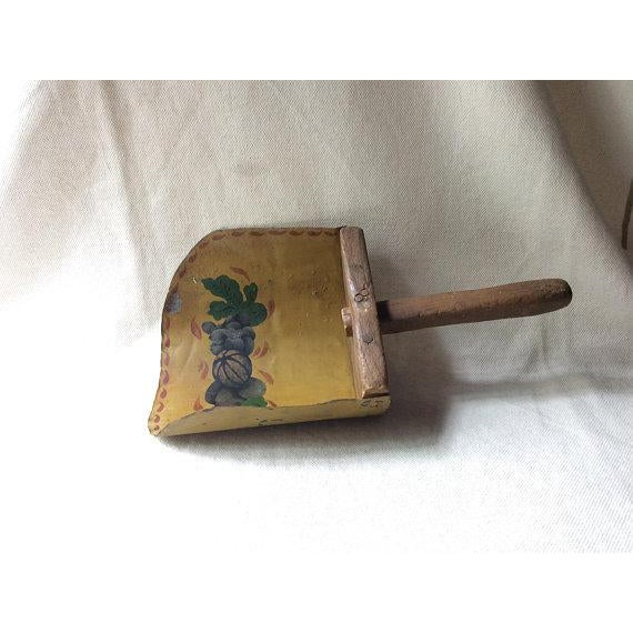 Antique French Farmhouse Style Toleware Grain Scoop For Sale - Image 9 of 9