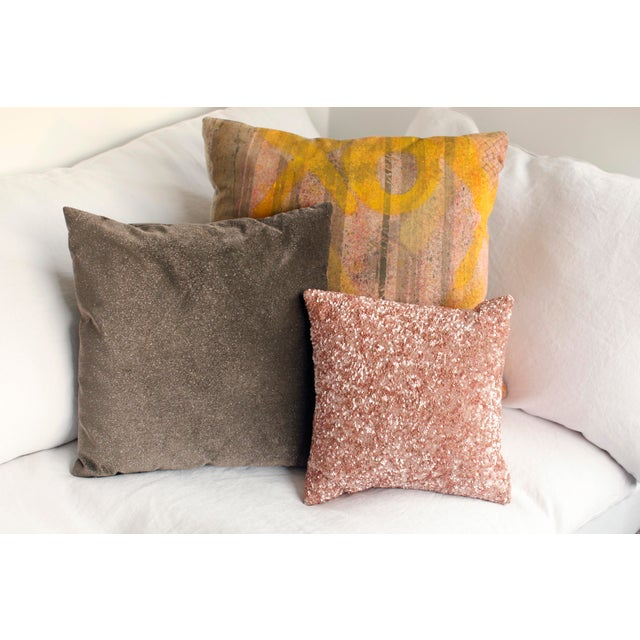 ABC Carpet & Home ABC Carpet and Home Graffiti Pillow For Sale - Image 4 of 7