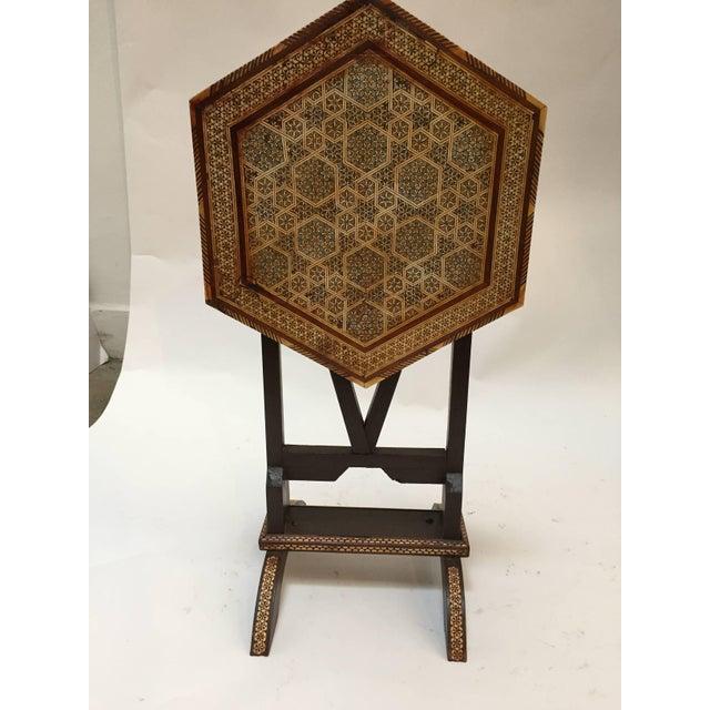 Egyptian Octagonal Side Tilt-Top Table For Sale - Image 9 of 10