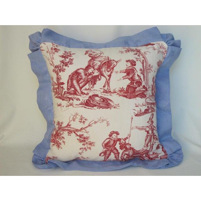 Antique 1880s Don Quixote Scene Toile Pillow II For Sale - Image 4 of 4