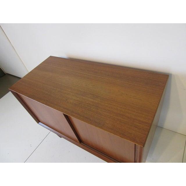 Danish Teak Wood Smaller Sized Credenza For Sale - Image 4 of 8