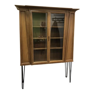 American of Martinsville Mid Century Display Cabinet For Sale