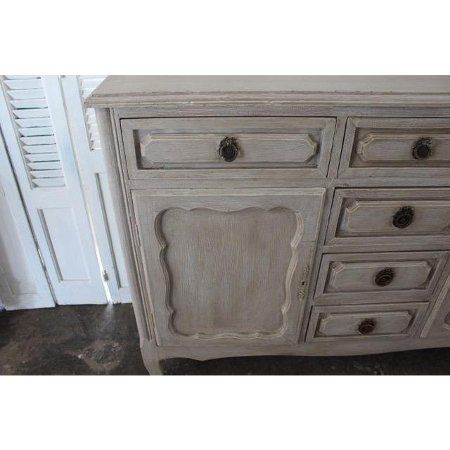 20th Century Shabby Chic French Style Painted Sideboard For Sale In Atlanta - Image 6 of 10