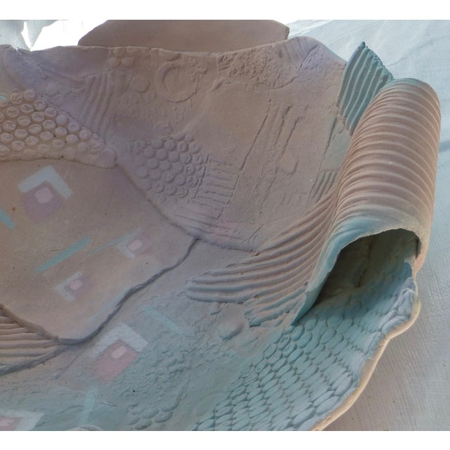 1980s Memphis-Style Pottery Bowl - Image 9 of 11