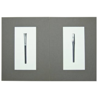 Original Jerome Gould Design Drawings for Writing Instruments - Set of 2 For Sale