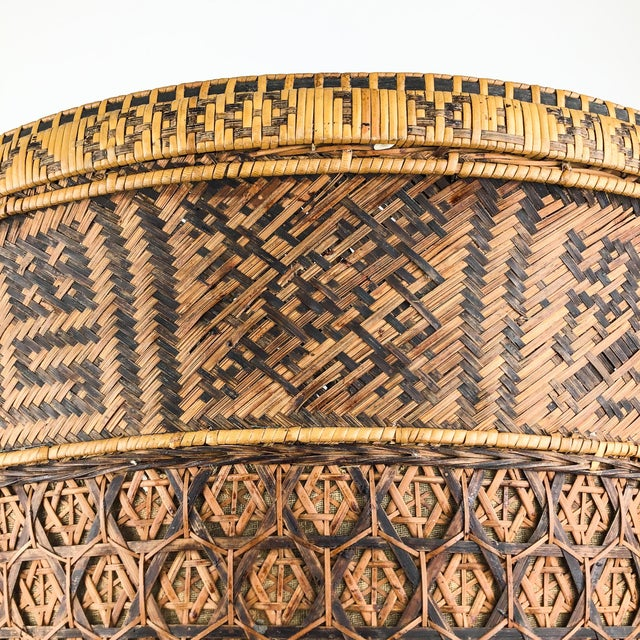 Chinese Antique Large Woven Empress Basket For Sale - Image 4 of 13