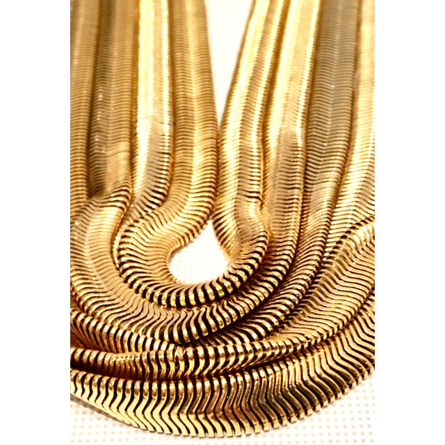 Gold 20th Century Les Bernard Inc. Gold Choker Necklace For Sale - Image 8 of 11
