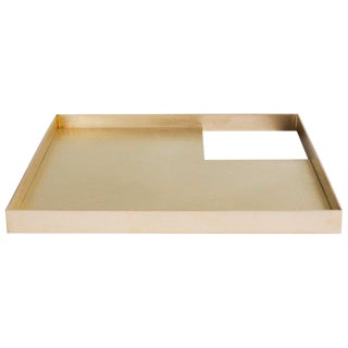 Modern Contemporary 002 Tray in Brass by Orphan Work For Sale