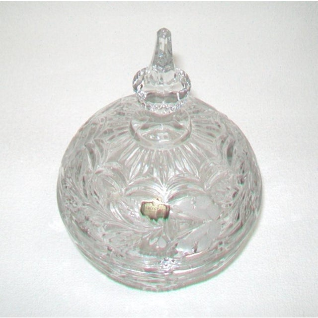 European Crystal Domed Lidded Dish For Sale - Image 4 of 6