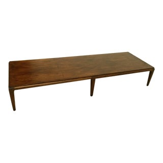 1960s Mid Century Modern Lane Walnut Coffee Table For Sale