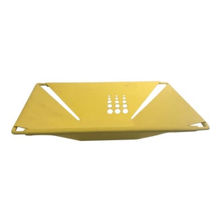 Memphis Yellow Metal Tray For Sale
