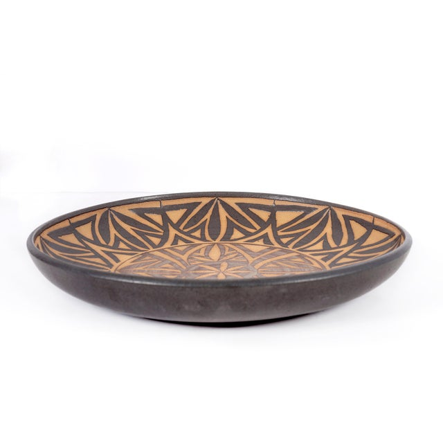 Mid-Century Modern Clyde Burt Ceramic Platter For Sale - Image 3 of 7