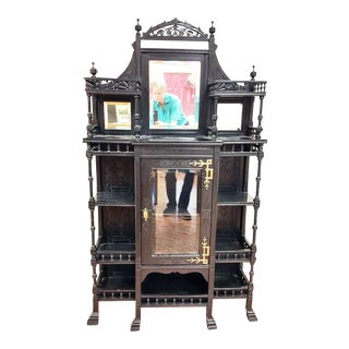 19th Century Victorian Ebonized Etagere Shelving For Sale