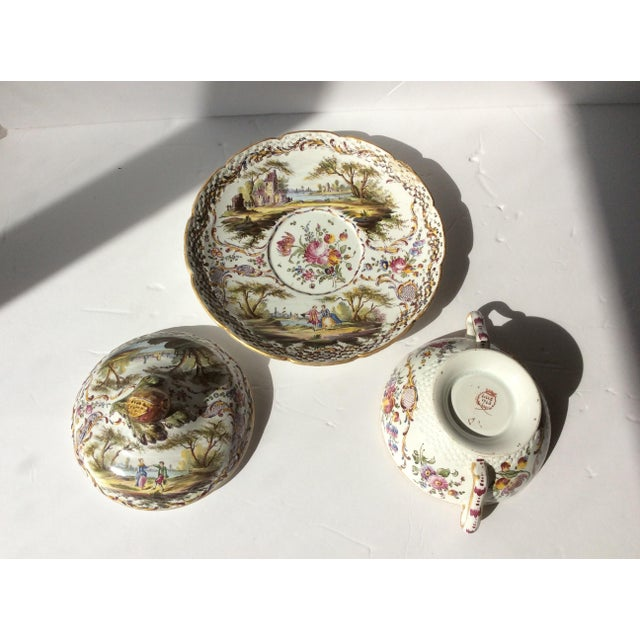 French Antique French Faience Serving Dishes - 3 Piece Set For Sale - Image 3 of 10