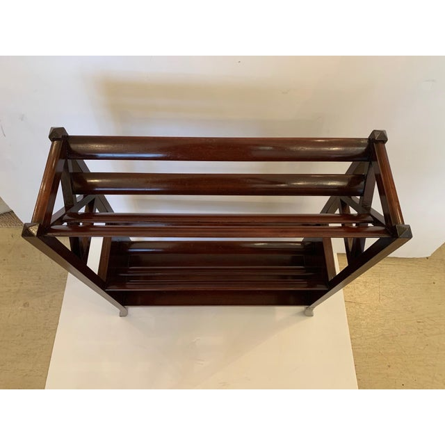 Brown 19th Century Mahogany & Satinwood Book Trough Shelving Unit For Sale - Image 8 of 13