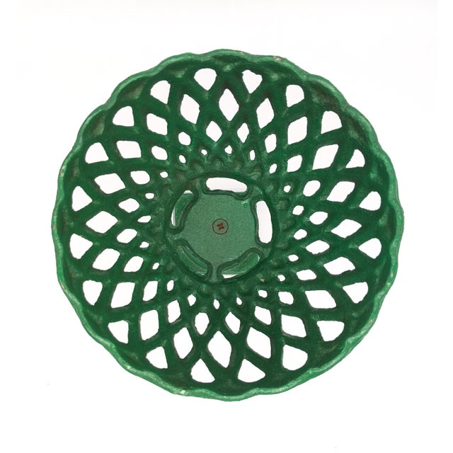 Large 20th Century Green Cast Iron Compotes - a Pair For Sale In Houston - Image 6 of 10