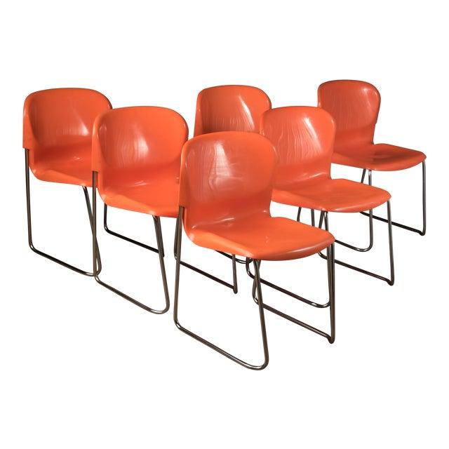 "1976 Vintage Gerd Lange ""Swing Chairs"" - Set of 6 For Sale"