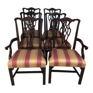 Henredon Chippendale Style Dining Chairs - Set of 6