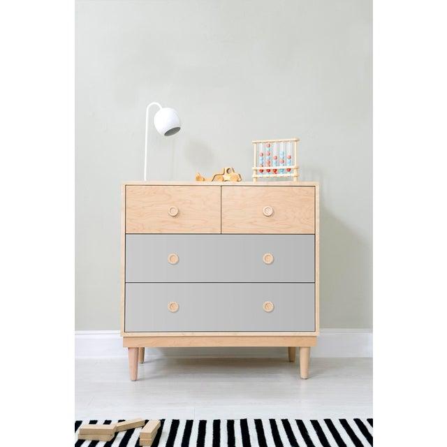 Nico & Yeye Nico & Yeye Lukka Modern Kids 4 Drawer Dresser Maple Gray For Sale - Image 4 of 5