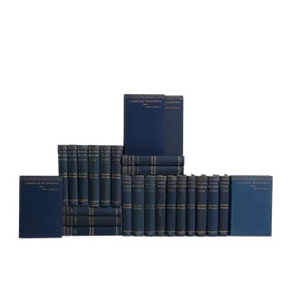 Antique Book Set in Navy & Gilt: American Statesman For Sale
