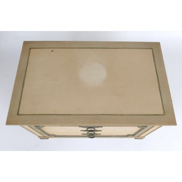 John Widdicomb Hand-Painted Night Tables With Drawers-A Pair For Sale - Image 10 of 13