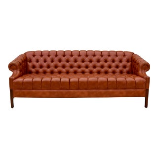 Swedish Leather Chesterfield Sofa For Sale