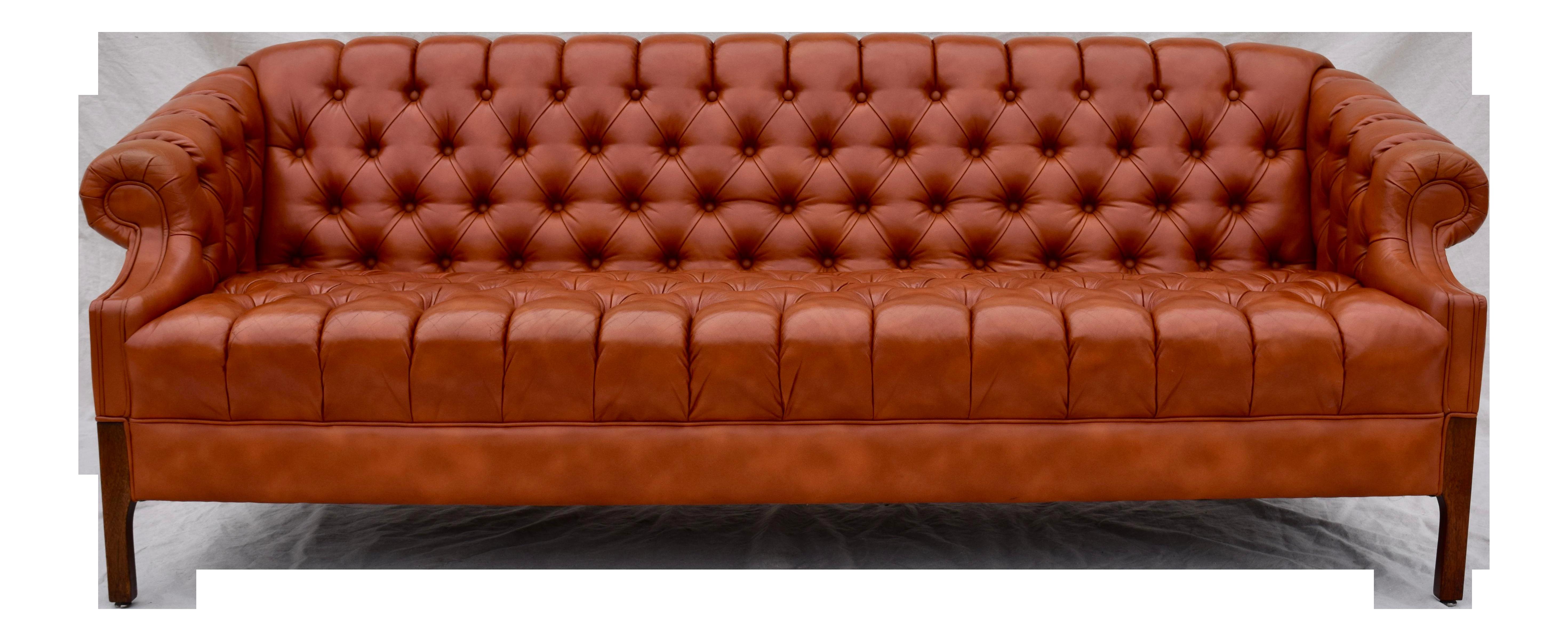 Swedish Leather Chesterfield Sofa
