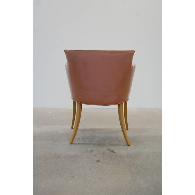 Set of Four Early Dunbar Dining Chairs in Leather For Sale In Providence - Image 6 of 7