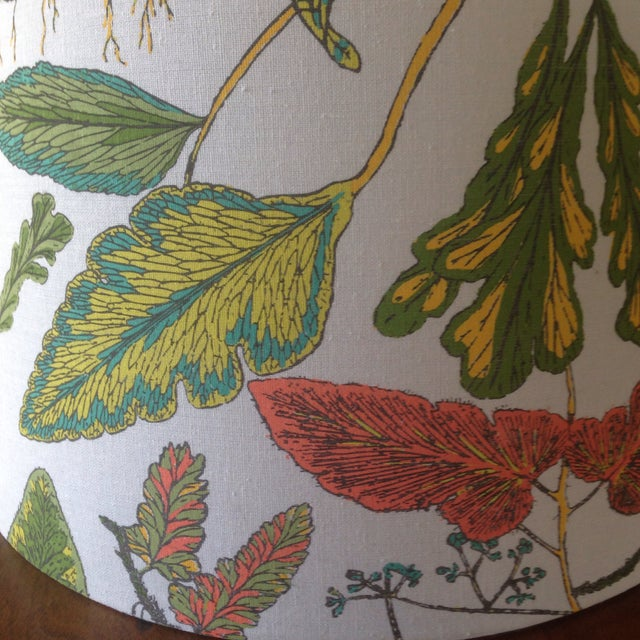 Vintage Botanical Print Lamp Shade For Sale - Image 4 of 11