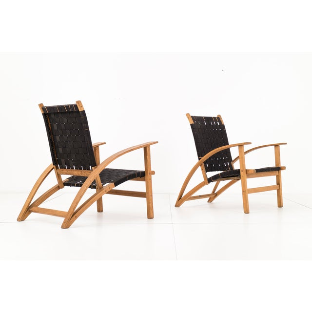 "Pair of Carl Koch ""Sno-Shu"" Lounge Chairs For Sale - Image 4 of 9"